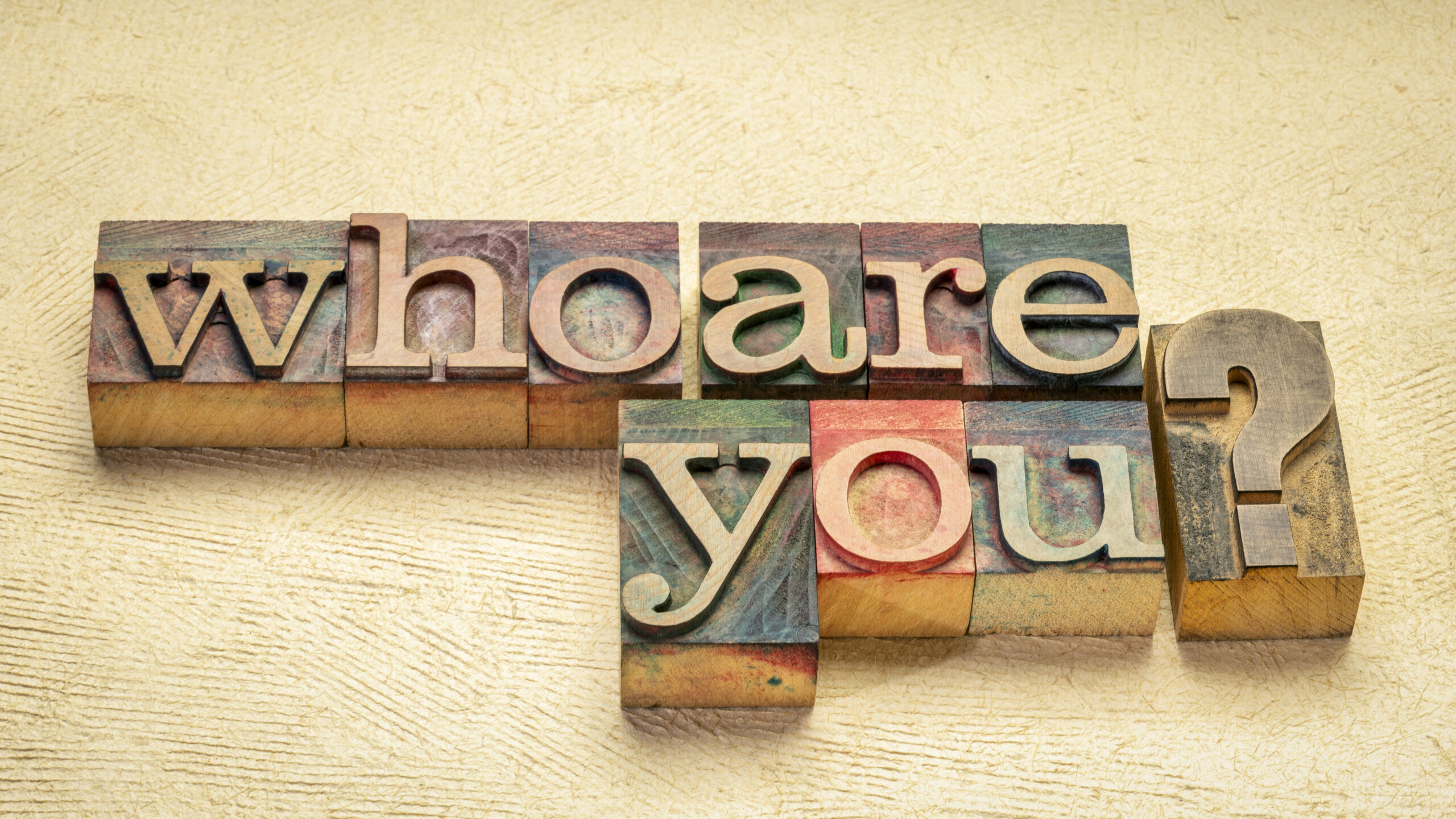 """Schriftzug zur Biografiearbeit """"Who are you"""""""
